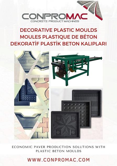 Dekoratif Plastik Beton Kalıpları