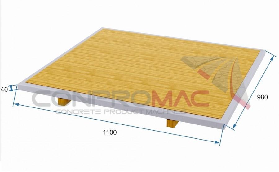 Çıta Ayaklı Tahta Palet 1100 X 980
