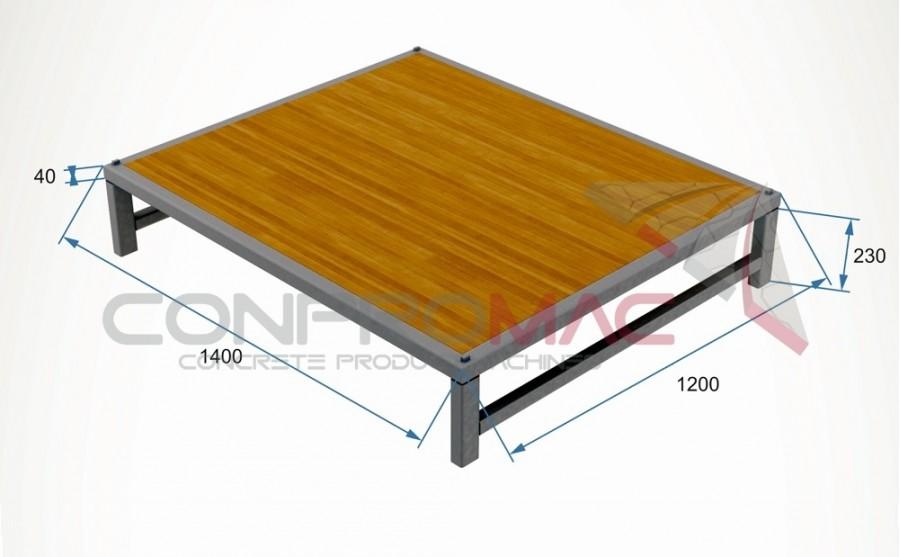 Profil Ayaklı Tahta Palet 1400 X 1200