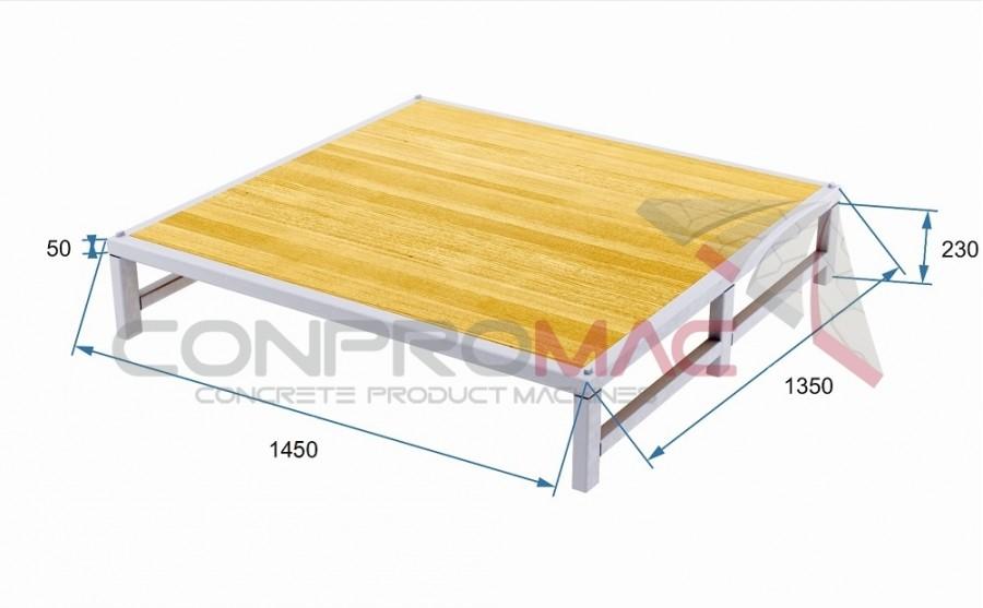 Profil Ayaklı Tahta Palet 1450 X1350